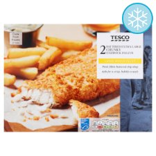 Tesco Extra Large Battered Haddock 400G