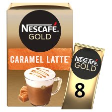 Nescafe Gold Latte Caramel Coffee 8 X 17G