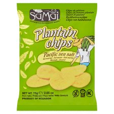 Samai Salted Plantain Chips 75G