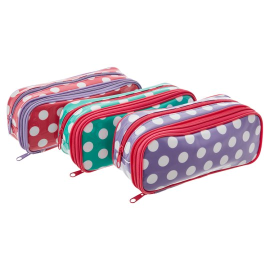 Tesco Large Spot Structured Pencil Case