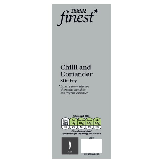 Tesco Finest Chilli And Coriander Stir Fry 200G