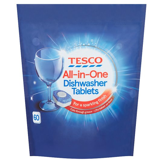 Tesco All In One Dishwasher Tablets Original 60'S