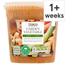 Tesco Vegetable Soup 600G