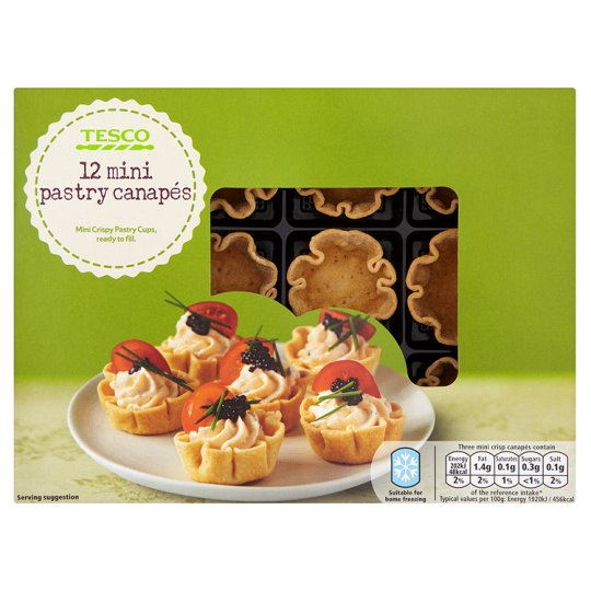 Mini pastry cups images for Canape pastry shells