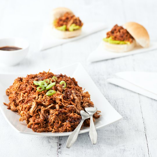 image 1 of Tesco Easy Entertaining Pull Pork With Bbq Sauce 1.08Kg