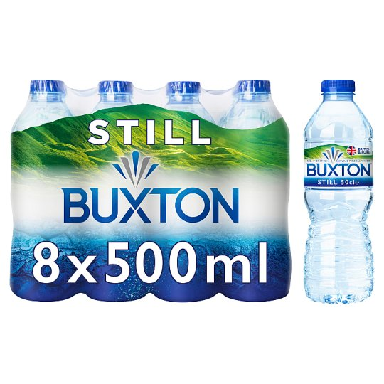 Buxton Natural Mineral Water Still 8 X 500 Ml