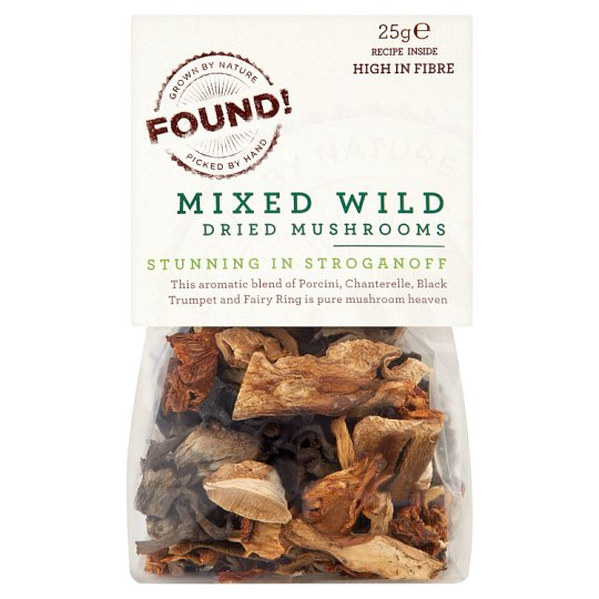 image 1 of Found! Dried Mixed Wild Mushrooms 25G