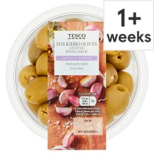 Tesco Halkidiki Olives Garlic 160G