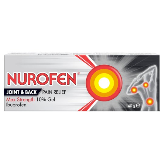 image 1 of Nurofen Joint&Back Pain 10% Gel 40G