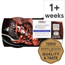 Tesco Melt In The Middle Chocolate Sponge Puddings 2 X 135G