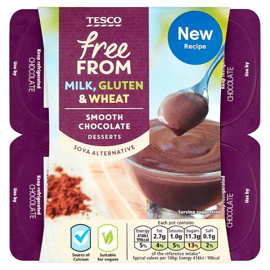Tesco Free-From Chocolate Dessert 4X100g