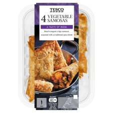 Tesco Indian Vegetable Samosa 278G