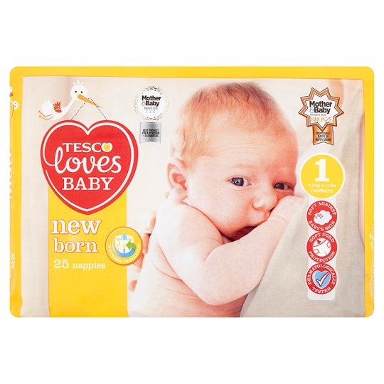 Tesco Loves Baby Newborn Size 1 Carry Pack 25