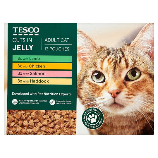 Tesco Standard Cuts In Jelly Classic Selection Cat Food 12X100g