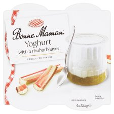 Bonne Maman Yogurt With Rhubarb Layer 4X125g
