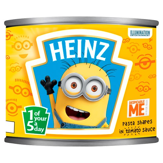 Heinz Minions Pasta Shapes In Tomato Sauce 205G