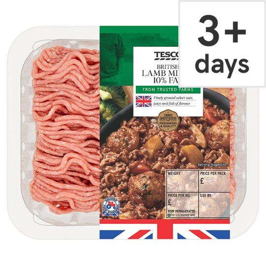 Tesco British Lamb Mince 10% Fat 250G
