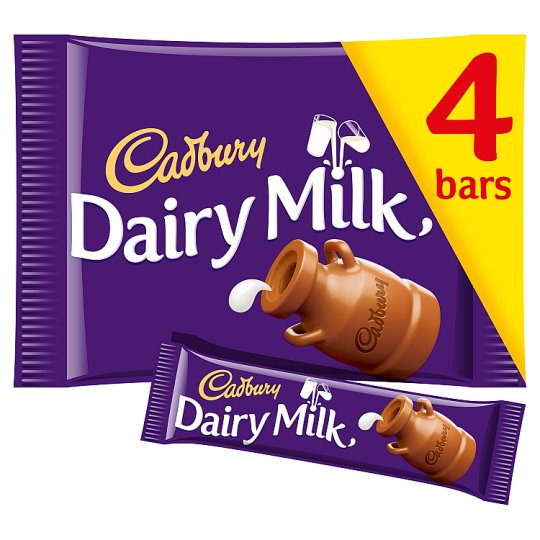 Cadbury Dairy Milk Chocolate Multipack 4 X36g Tesco Groceries