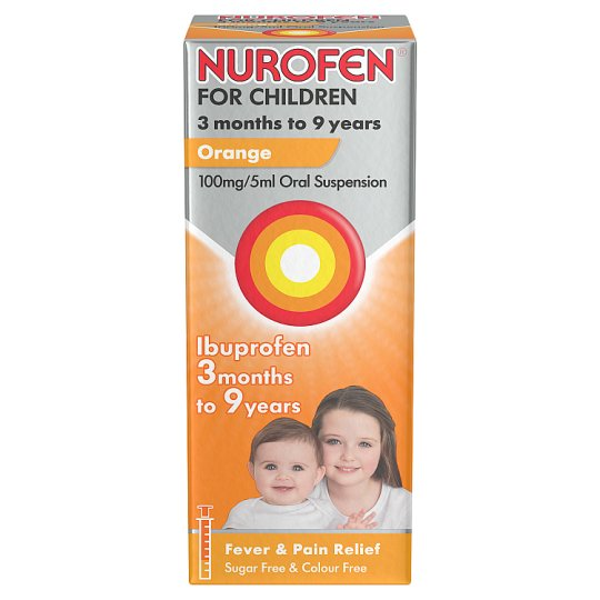 Nurofen For Children 100Mg Orange Liquid 100Ml