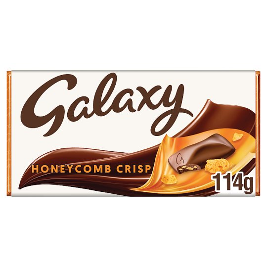 image 1 of Galaxy Honeycomb Crisp Chocolate Bar 114G