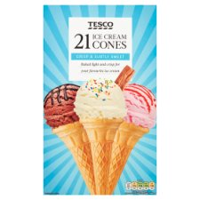 Tesco Ice Cream Cones 21 Pack