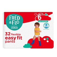 Fred & Flo Easy Fit Size 6+ Nappy Pant 32 Pack