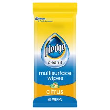 Pledge Multi Surface Wipes 25 Pack