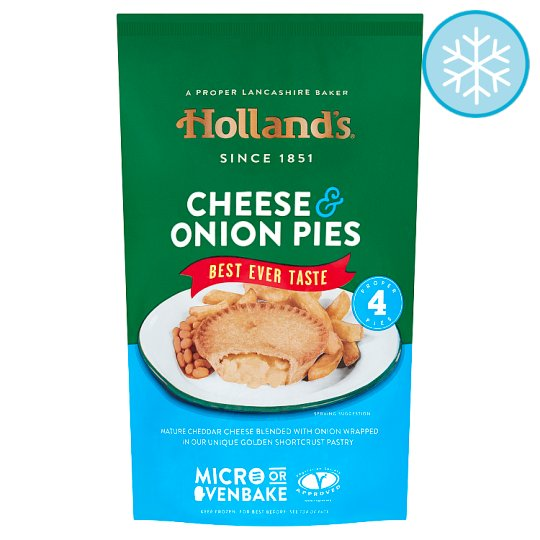 Hollands 4 Cheese And Onion Pies (L)