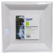 Chinet Square Plate Large 8 Pack
