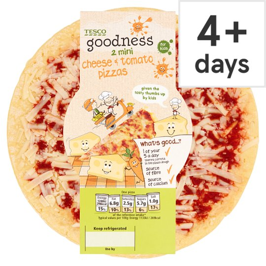 Tesco Goodness Pizza Cheese And Tomato 250G
