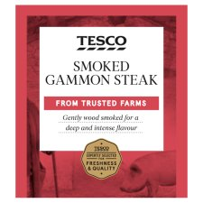 Tesco Smoked Gammon Single Steak 200G