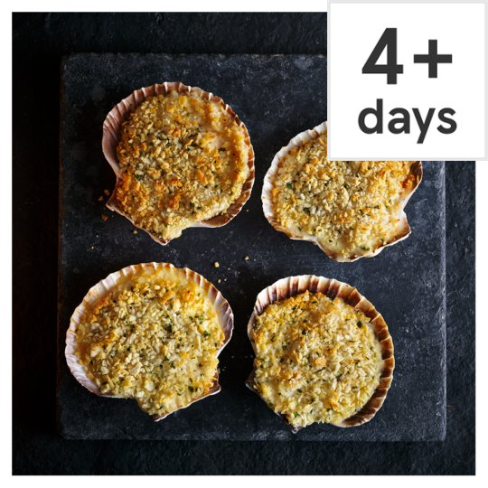 Tesco Finest Coquille St. Jacques, 4 Pack, Serves 4