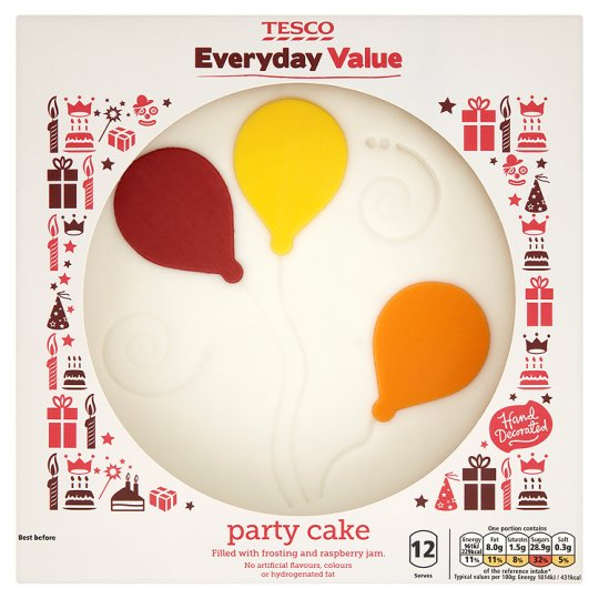Tesco Everyday Value Party Cake