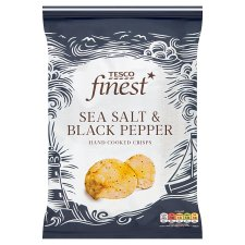 Tesco Finest Sea Salt And Black Pepper Crisps 150 G
