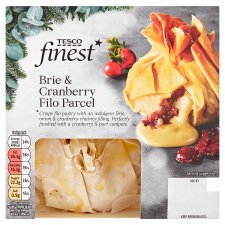 Tesco Finest Brie And Cranberry Filo Parcel 200G