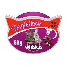 image 1 of Whiskas Beef Temptations Cat Treats 60G