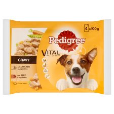 Pedigree Gravy Chicken Beef Dog Pouches 4 X100g