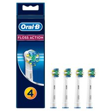 Oral-B Floss Action Replacement Electric Toothbrush Heads 4