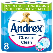 Andrex Classic Clean 8 Roll Pack