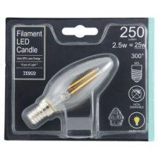 image 1 of Tesco Led Filament Candle 25W Small Edisonscrew