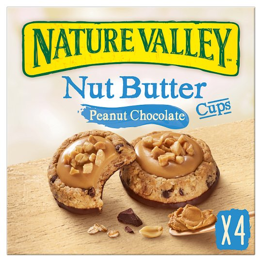 Nature Valley Nut Butter Cups Peanut Chocolate 4 Pack 140G