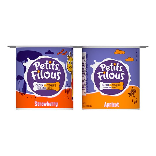 Petits Filous Apricot And Strawberry Fromage Frais 4 X85g