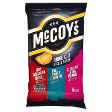 Mccoys Ridge Cut Nicely Spicy Crisps 6X27g