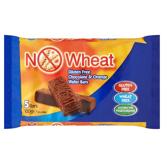 No Wheat Chocolate And Orange Bars 5 Pack