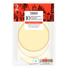 Tesco 10 Beechwood Smoked Cheese Slices 250G