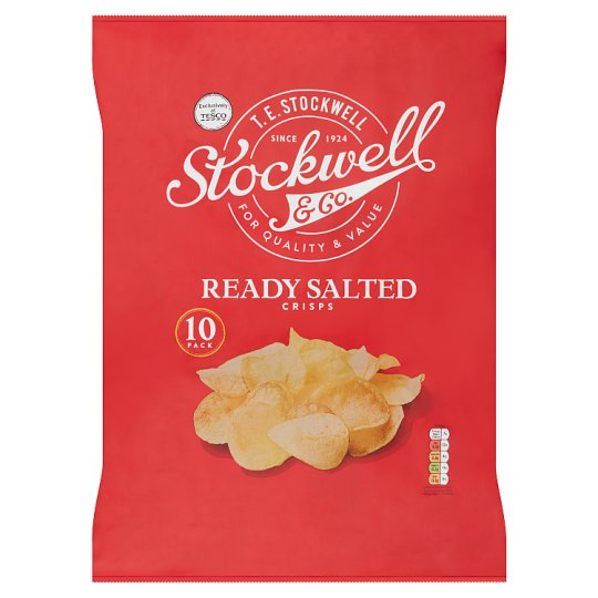 Stockwell And Co Ready Salted Crisps 10X25g