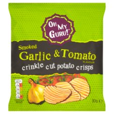 Omg Smoked Garlic And Tomato Potato Crisps 80G