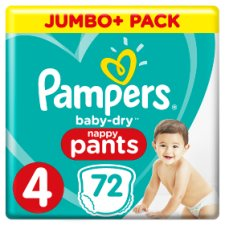 Pampers Baby Dry Pants Size 4 Jumbo Plus Pack 72