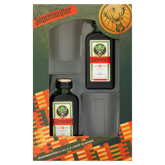 Jagermeister And 2 Shot Glasses Gift Set
