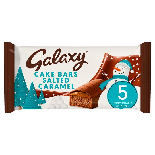 image 1 of Galaxy Salted Caramel Cake Bars 5 Pack